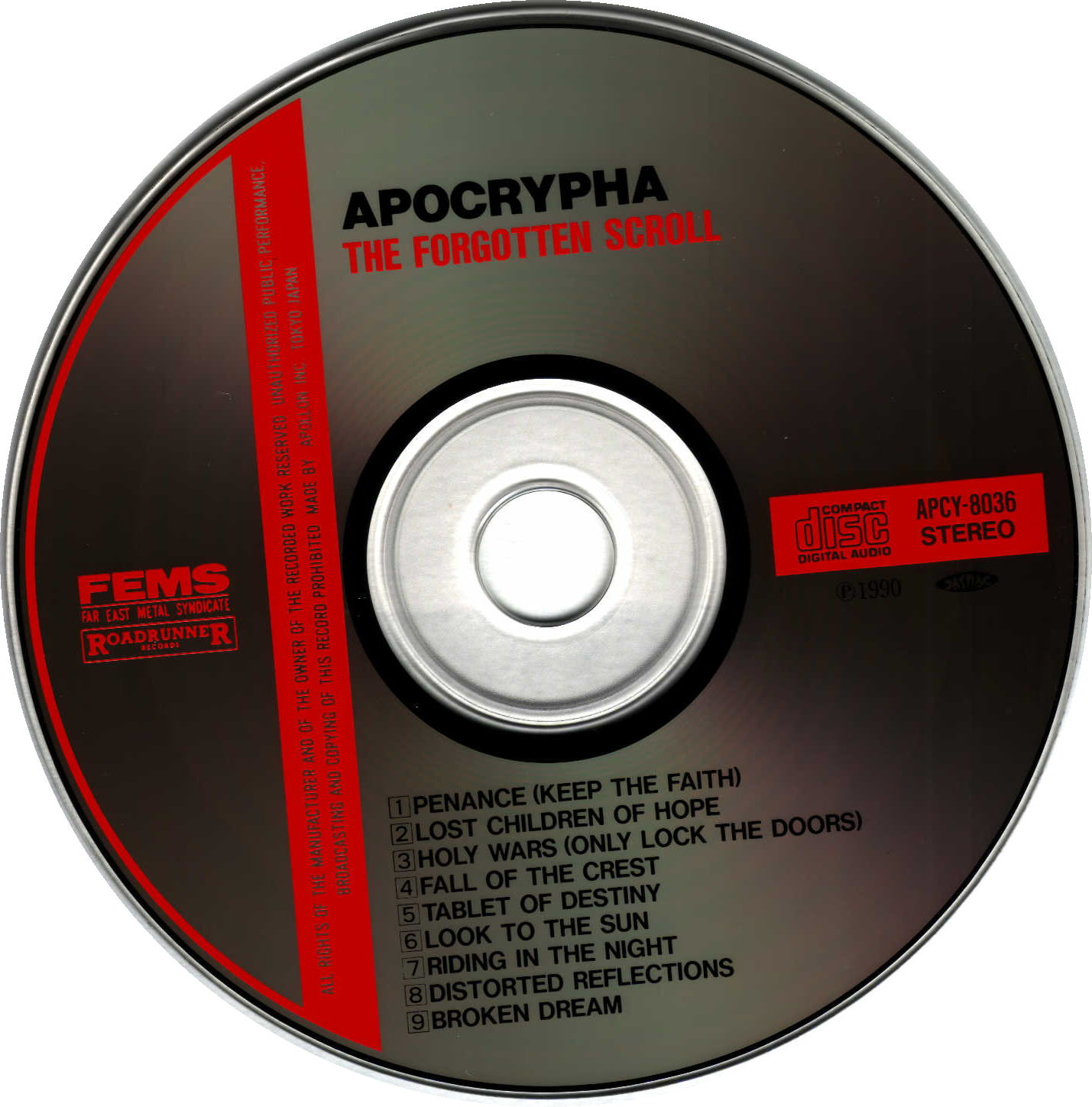 Apocrypha - The Forgotten Scroll (Original Jap CD)